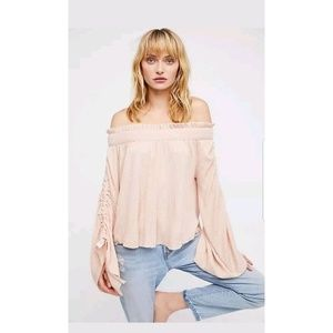 New FREE PEOPLE Cherry Blossom Blouse pink Sz S